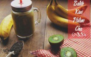 Smoothie de Plátano, Kiwi y Chía: Receta muy sana