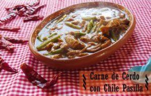 Carne de Puerco en Chile Pasilla y Ejotes: Receta tradicional
