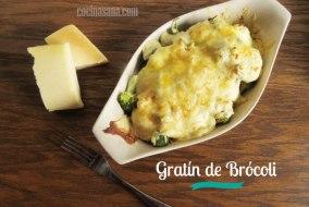 Gratín de Brócoli. Deliciosa y sana guarnición fácil. Receta paso a paso
