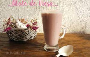 Atole de Fresa. Deliciosa bebida energética y natural. Receta Fácil