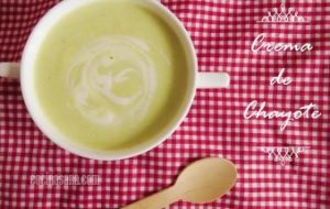 Crema de Chayote, deliciosa para niños y mayores. Receta sencilla