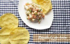Ensalada de Atún con mayonesa. Receta muy fácil y rápida para Cuaresma