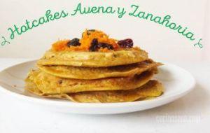 Hotcakes o Panquecas de Avena y Zanahoria. Receta fácil y muy sana