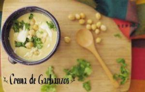 Crema de Garbanzos: Receta sencilla, económica y muy hogareña