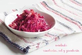 Ensalada de Remolacha, Col y Zanahoria. Guarnición fresca, sana y rica