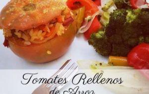 Tomates Rellenos de Arroz con Pimientos y Zanahorias