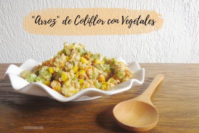 Arroz de coliflor con vegetales