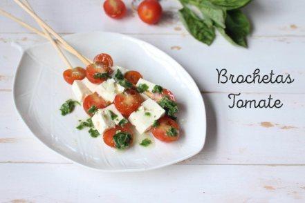 Brochetas de Panela y Tomate Cherry con Vinagreta de Albahaca: Receta