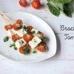 brochetas de panela y tomate