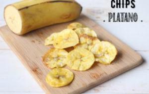 Chips de plátano: Snack Delicioso y Fácil de hacer en casa