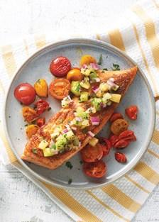 Receta del salmón con kiwi