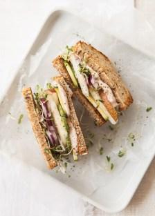 mini sándwich vegano