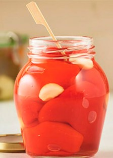 pimientos rojos con ajos