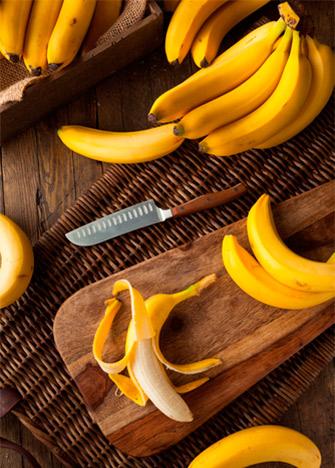 usos de la cáscara del plátano