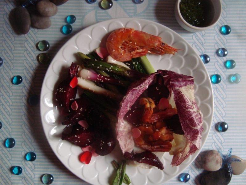 Langostinos: ensalada de mar