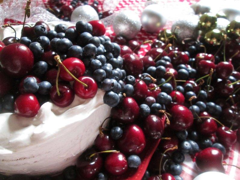 Torta navideña de cerezas y arándanos. Gluten Free!