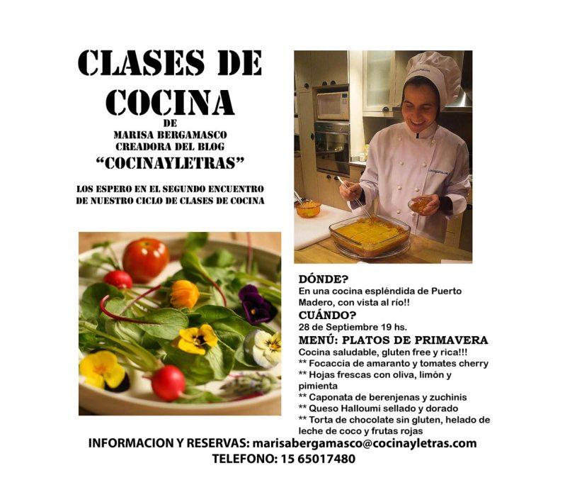 Ciclo de clases de cocina – Clase del 28 de septiembre