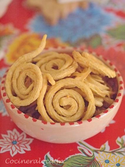 Garlic murukku - murukku à l'ail