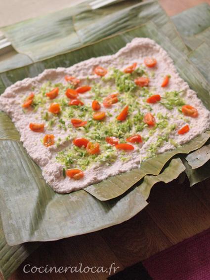 Lap lap du Vanuatu : couche de légumes ©cocineraloca.fr