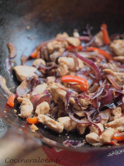 Poulet sauce huitre gingembre et oignon ©cocineraloca.fr