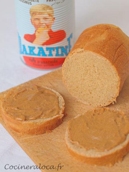 Pain au beurre de cacahuètes 2 ©cocineraloca.fr