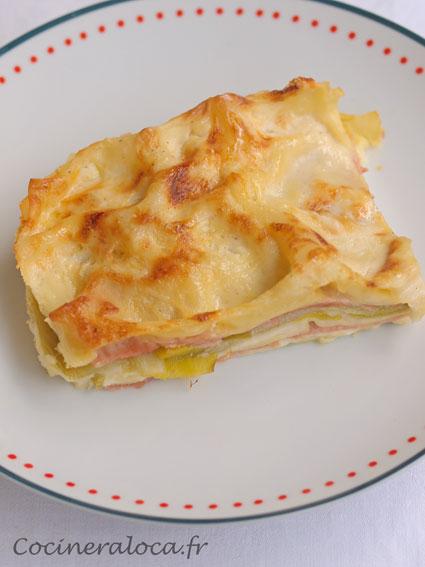 lasagnes aux poireaux jambon comté ©cocineraloca.fr