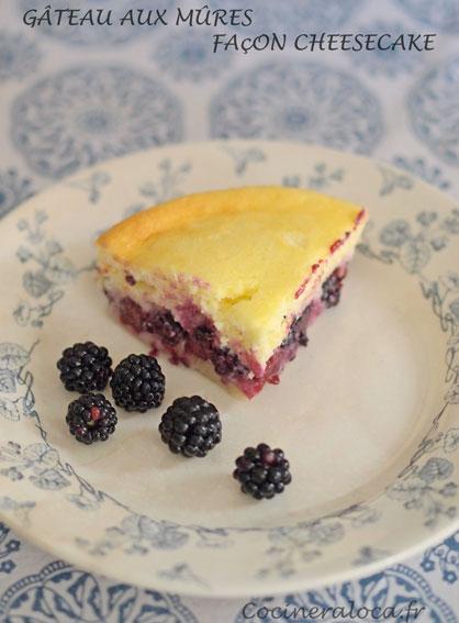 cheesecake aux mûres ©cocineraloca.fr