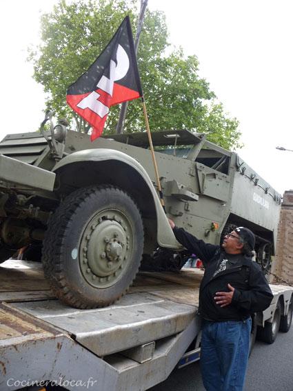 Le véhicule militaire Guadalajara  / Hommage à la Nueve ©cocineraloca.fr