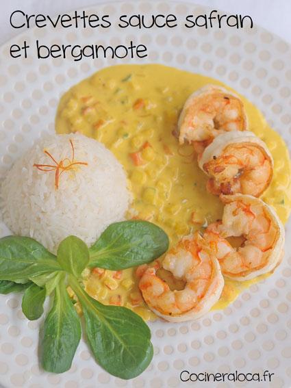 crevettes sauce bergamote safran ©cocineraloca.fr