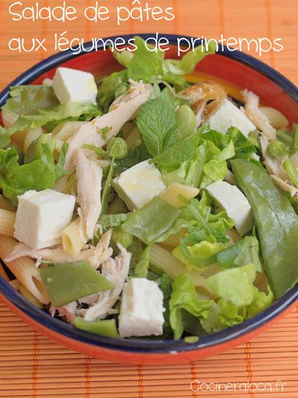 Salade de pâtes aux légumes ©cocineraloca.fr