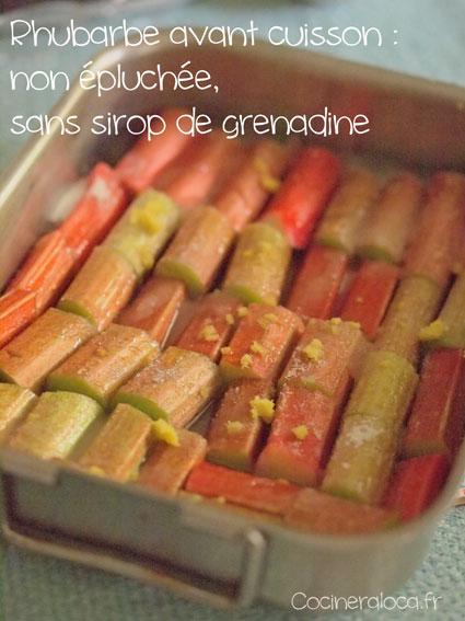 Rhubarbe verte et rose avant cuisson©cocineraloca.fr