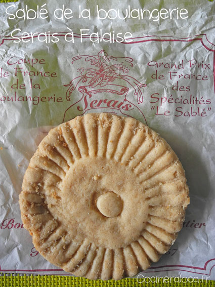 Sablé de la boulangerie Serais à Falaise ©cocineraloca.fr