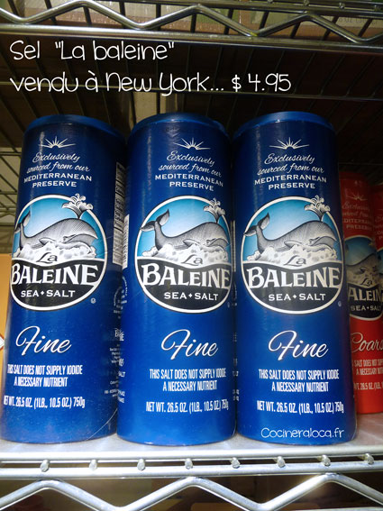 Sel la baleine prix New York ©cocineraloca.fr