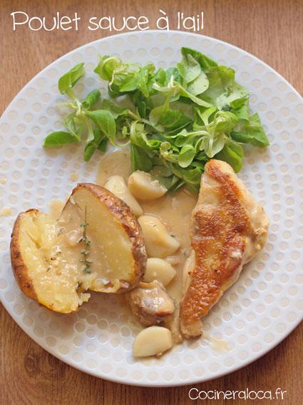 Poulet sauce à l'ail ©cocineraloca.fr