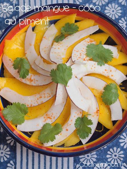 Salade mangue coco au piment ©cocineraloca.fr