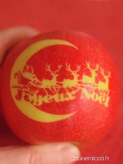 Pomme marquée - Joyeux Noël