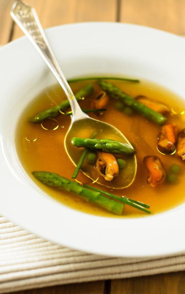 summer mussel soup