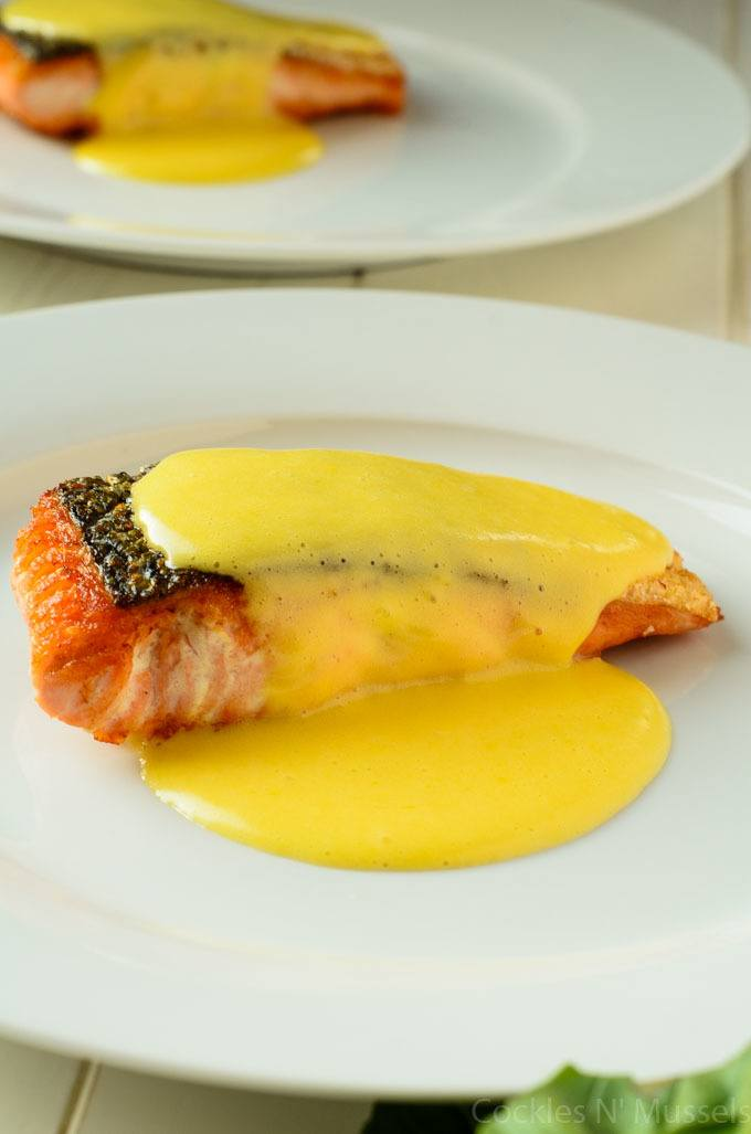 classic salmon and hollandaise sauce