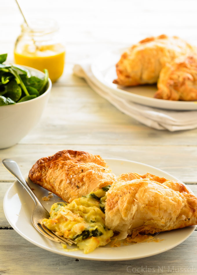 smoked haddock and english mustard pasty