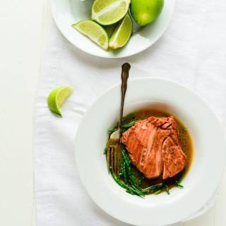 beetroot poached salmon