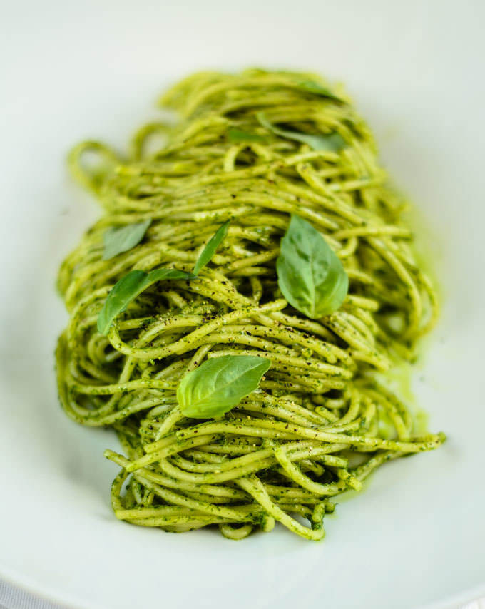 pasta with salsa verde