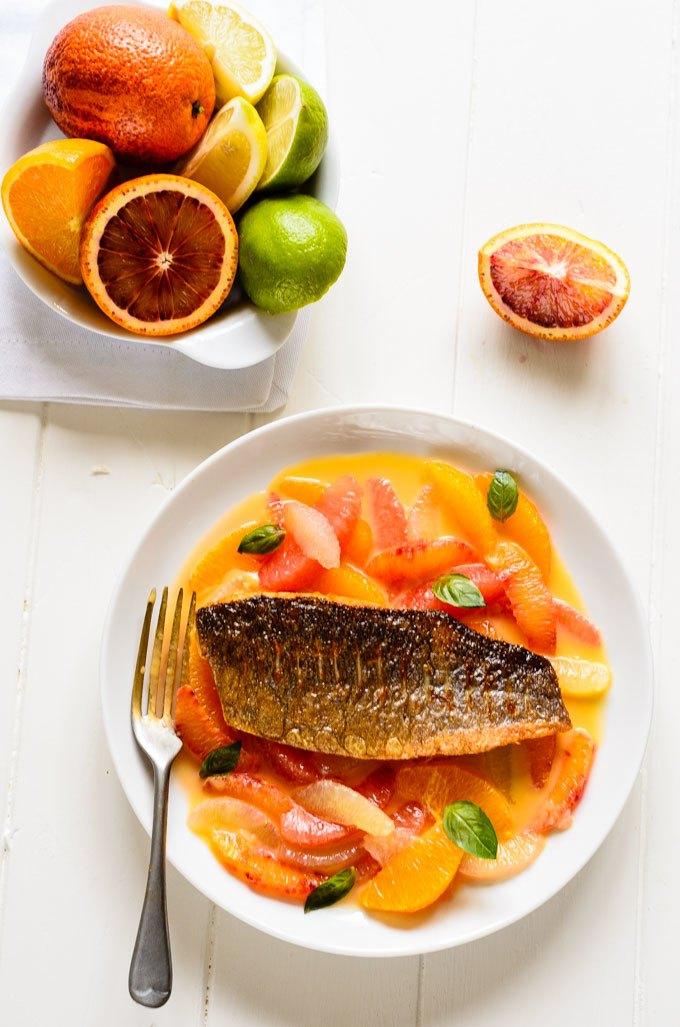 crispy citrus seabass