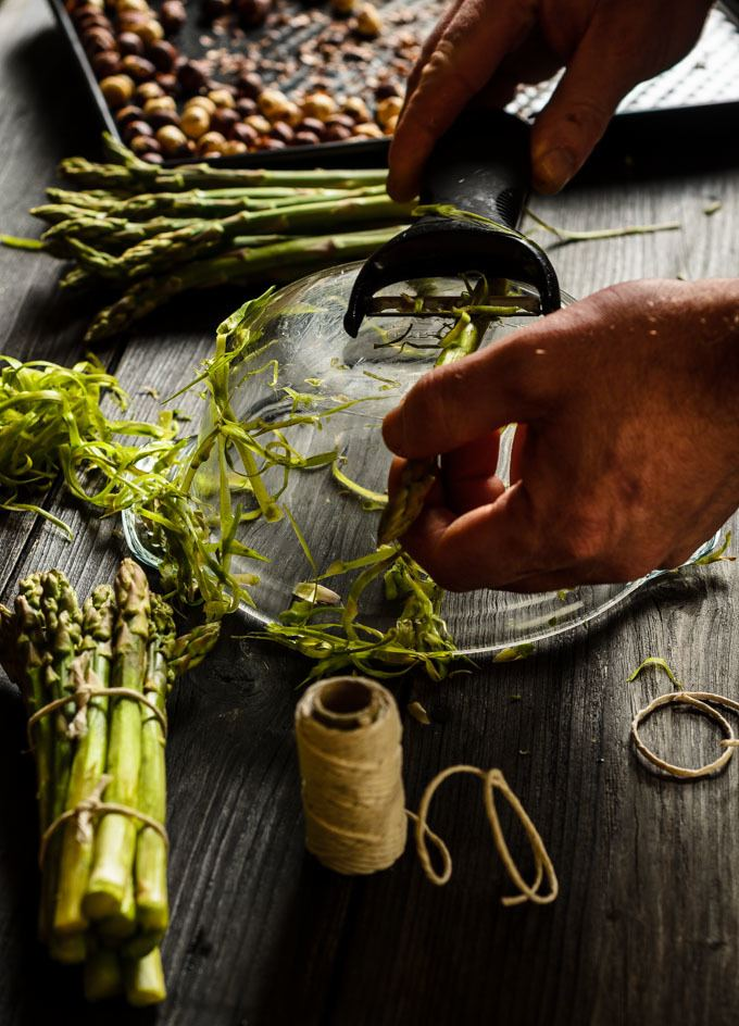 the best way to peel asparagus