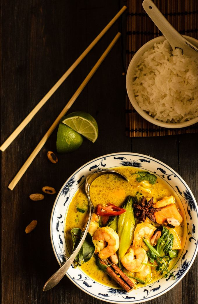 prawn and sweet potato massaman