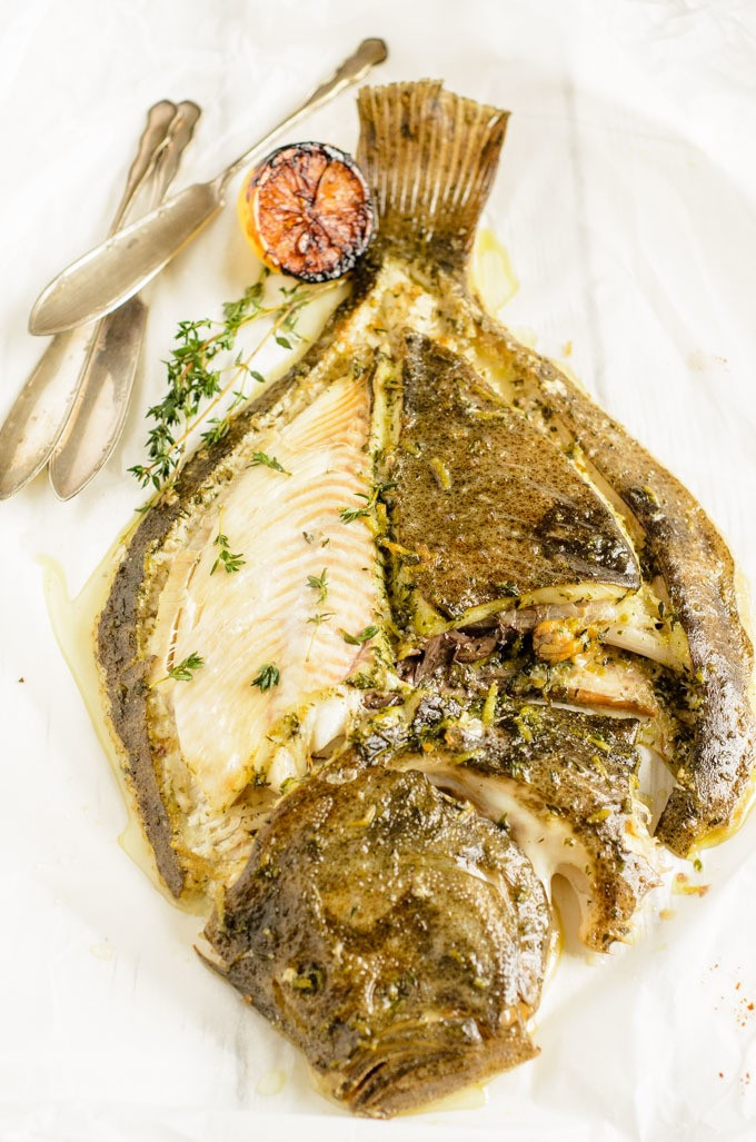 Slow Roast Turbot In Lemon, Thyme, And Anchovy Oil