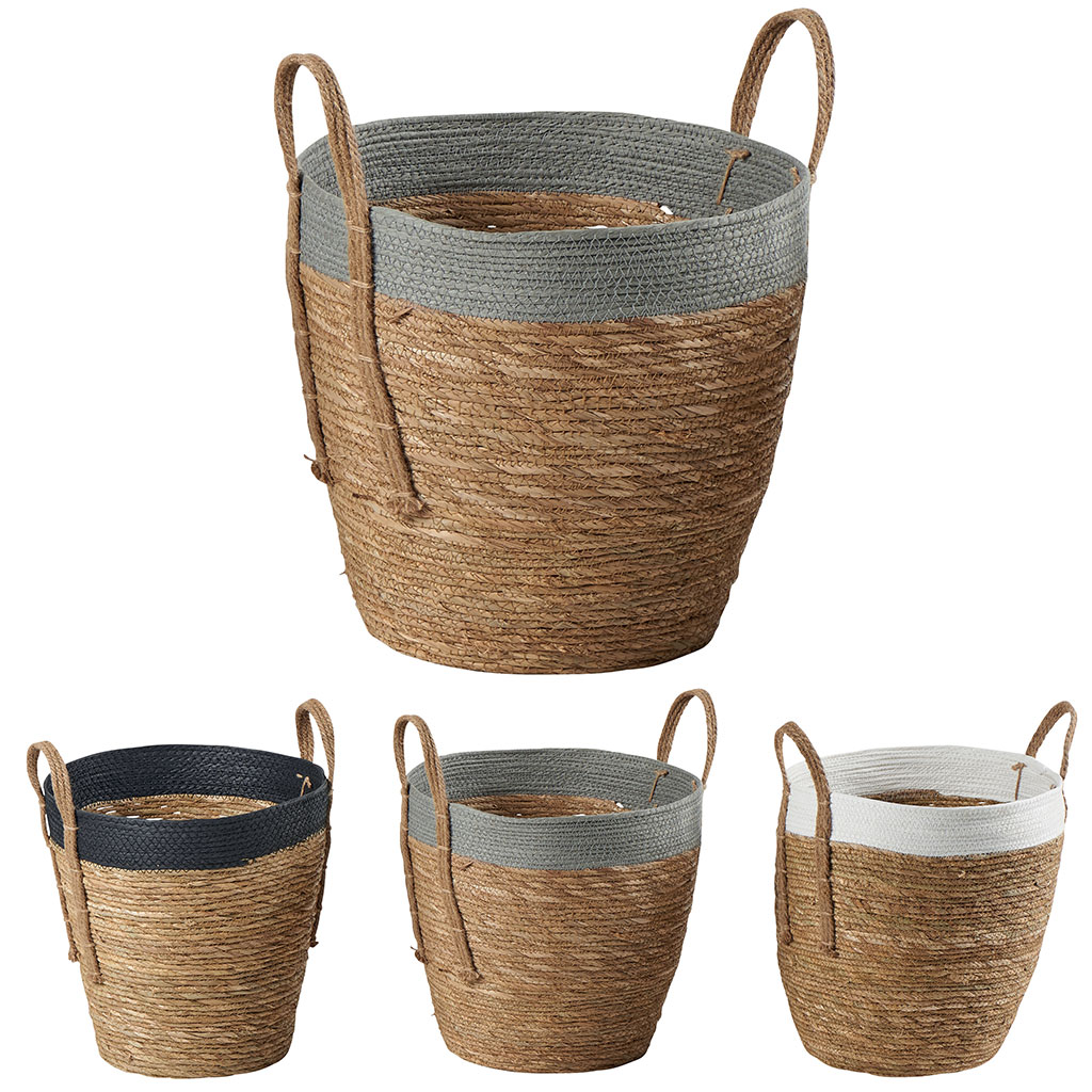 Panier A Linge Rond Anya Cocktail Scandinave