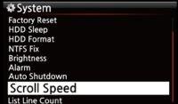 X45 Scroll Speed
