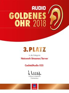 Goldenes Ohr 2018 AUDIO 3. Platz X35 Netzwerk/Streamer Server
