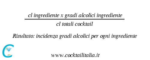 calcolo gradi alcolici cocktail