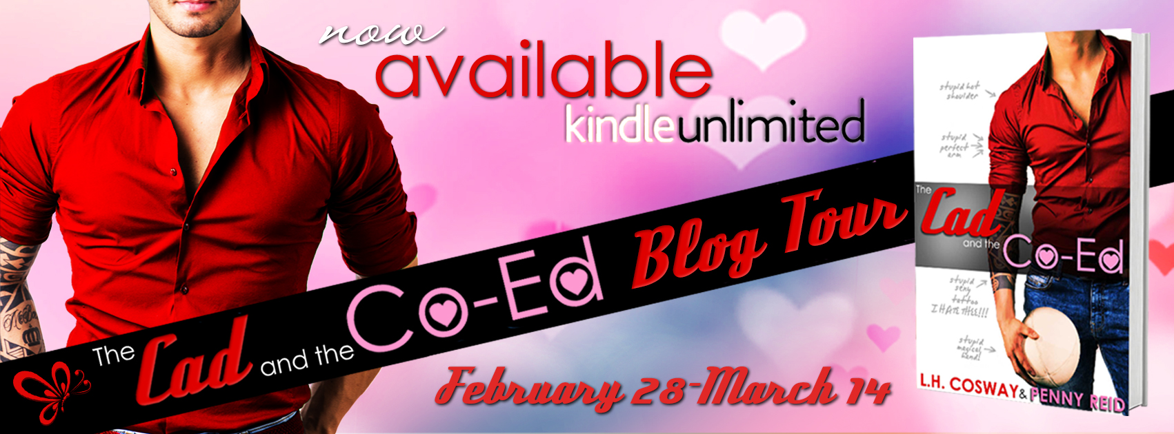 Blog Tour Review:  The Cad and the Co-Ed by Penny Reid & L. H. Cosway